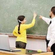 docent-leerling-schoolbord
